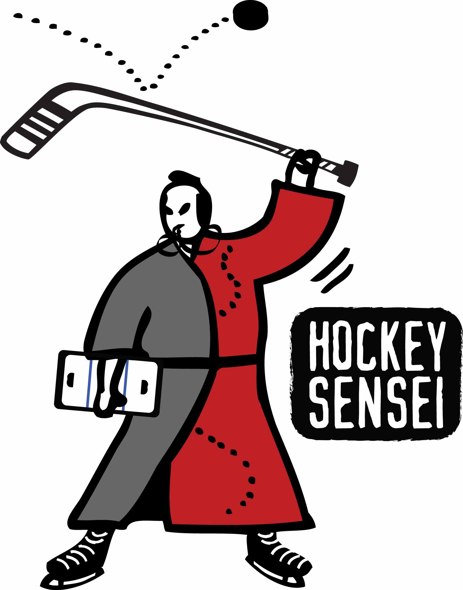 The hockey sensei logo designed by The Next Wave in Dayton OH